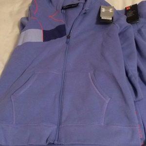 New under armor girls large sweatsuit pants jacket